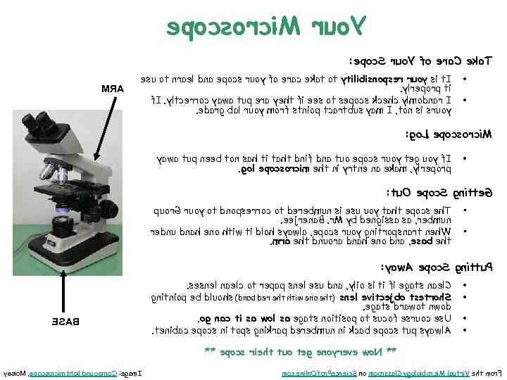 Comment utiliser un microscope composé