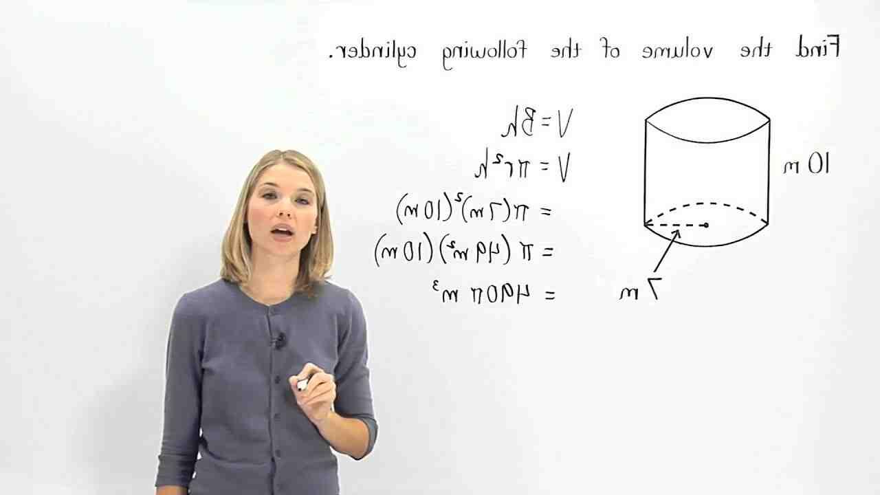 Comment calculer le volume d'un cylindre en mètre cube ?